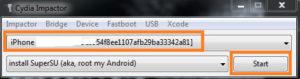 Verifique o seu modelo de dispositivo iDiapositivo no Cydia