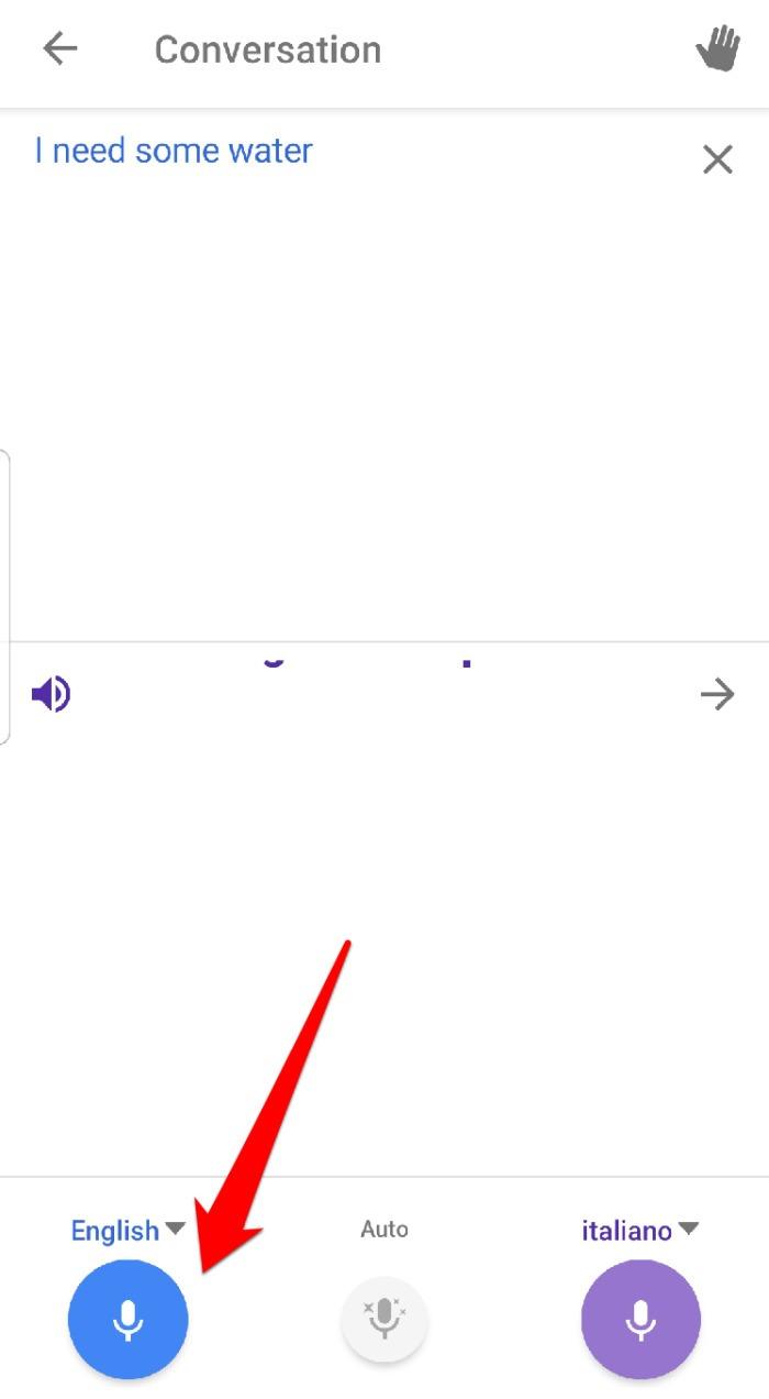 Conversa no aplicativo do Google Tradutor
