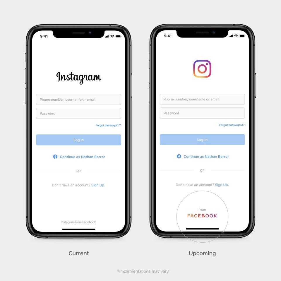 Facebook altere seu logotipo para se diferenciar da sua gama de produtos 1