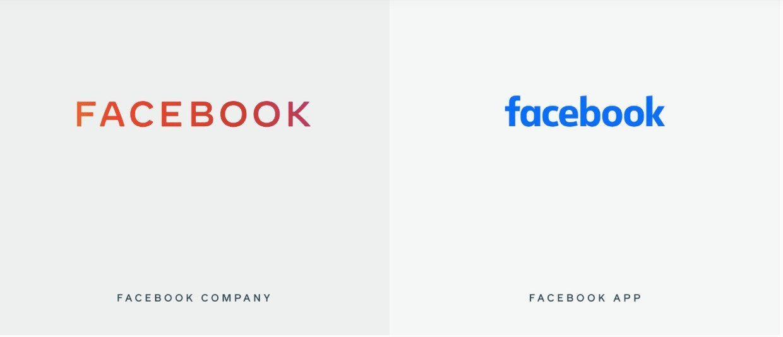 Facebook altere seu logotipo para se diferenciar da sua gama de produtos 2