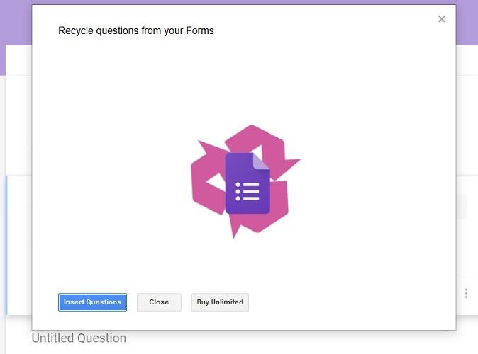 Inserir formulário de perguntas Reciclador