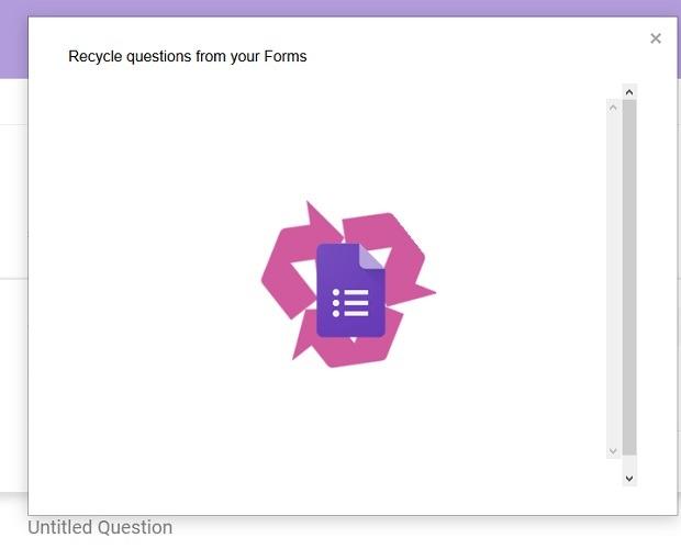 Recurso Formulário de Reciclagem de Perguntas