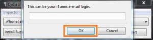 Insira o seu-Apple-ID para carregamento lateralTwitch-IPA