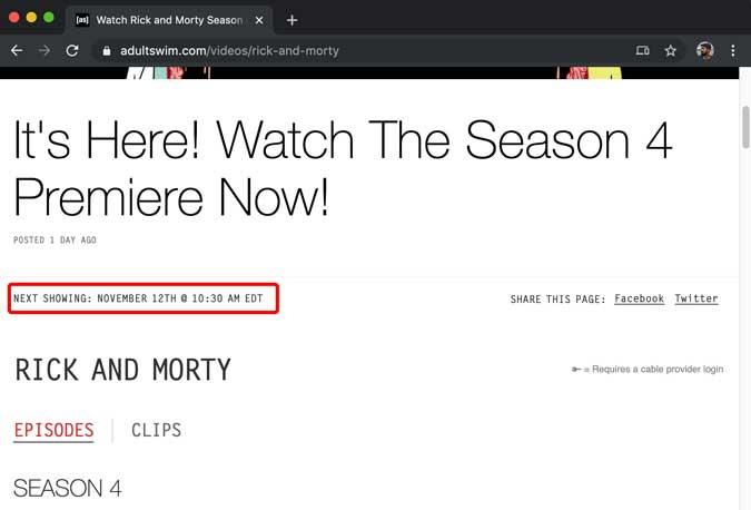 informações sobre quando o episódio será lançado