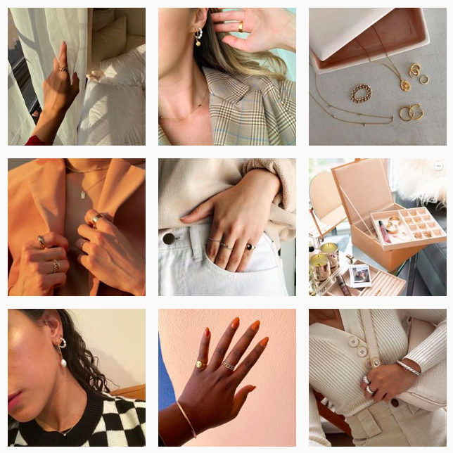 Instagram  Tendência estética: Mejuri