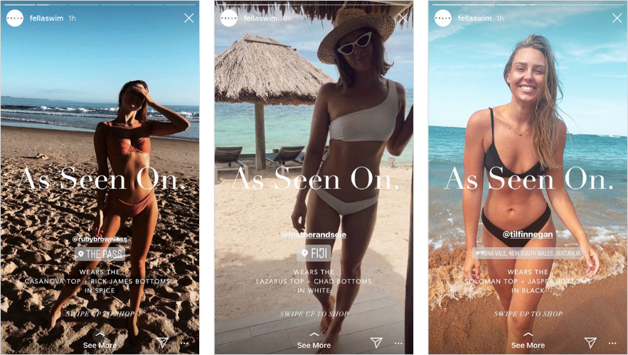 Instagram  Histórias de noivado: Fella Swim