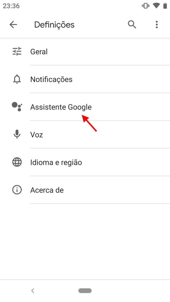 Assistente Google Voice Match reconhecimento