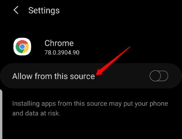 Download Instalar o Google Play Permitir a partir desta fonte