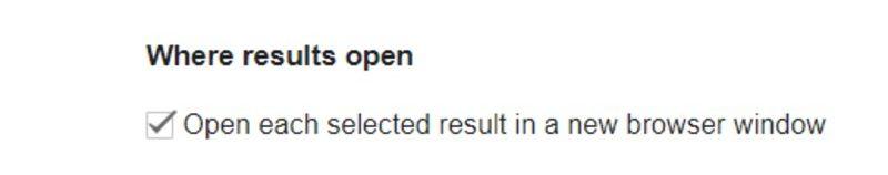 Preferência de Pesquisa do Google Nova Janela