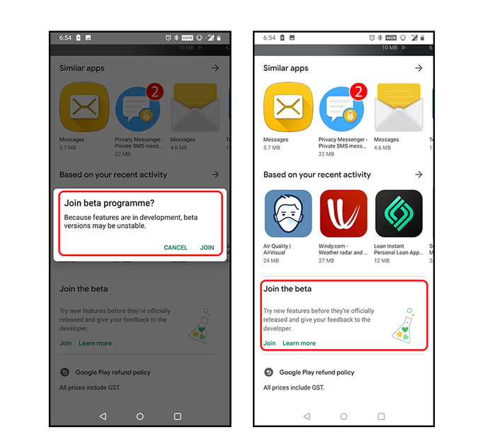 Google Messenger RCS