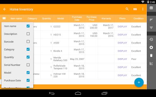 Captura de tela do banco de dados Memento