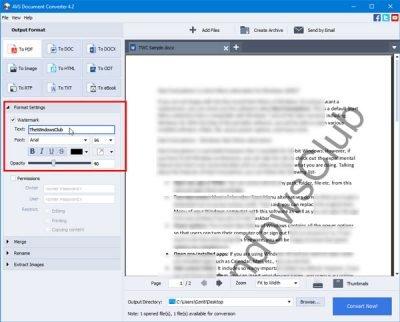 O AVS Document Converter permite converter arquivos entre DOC, PDF, DOCX, RTF, TXT, HTML, etc. 1
