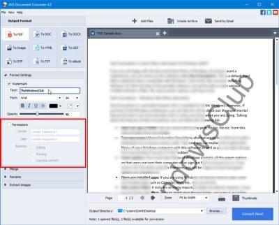 O AVS Document Converter permite converter arquivos entre DOC, PDF, DOCX, RTF, TXT, HTML, etc. 2