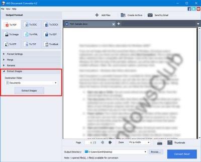 O AVS Document Converter permite converter arquivos entre DOC, PDF, DOCX, RTF, TXT, HTML, etc. 3