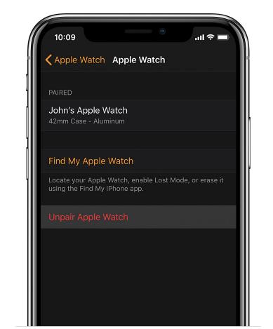 Vender Apple Watch Desemparelhar dispositivo
