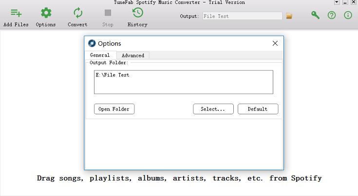 Alterar pasta de saída para músicas do Spotify