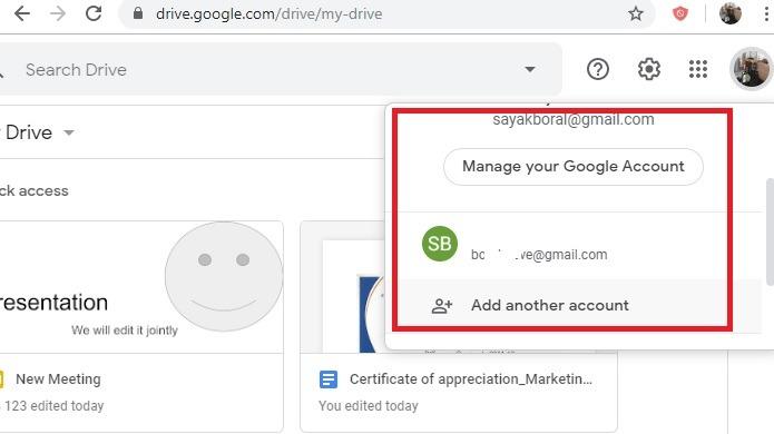 Google Drive Adicionar mais contas