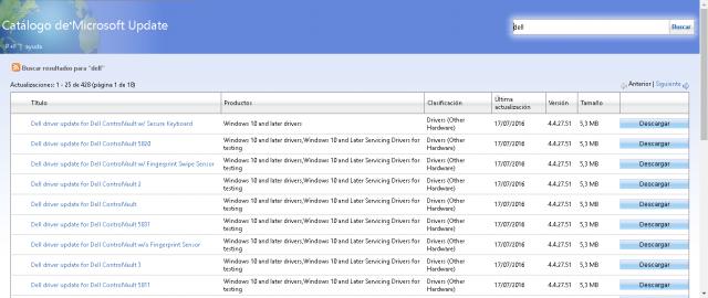 Encontre o driver correto no catálogo de drivers da Microsoft 2