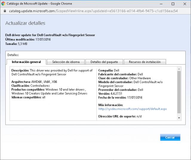 Encontre o driver correto no catálogo de drivers da Microsoft 3
