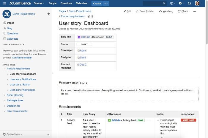 Alternativas gratuitas para o Sharepoint Atlassian Confluence