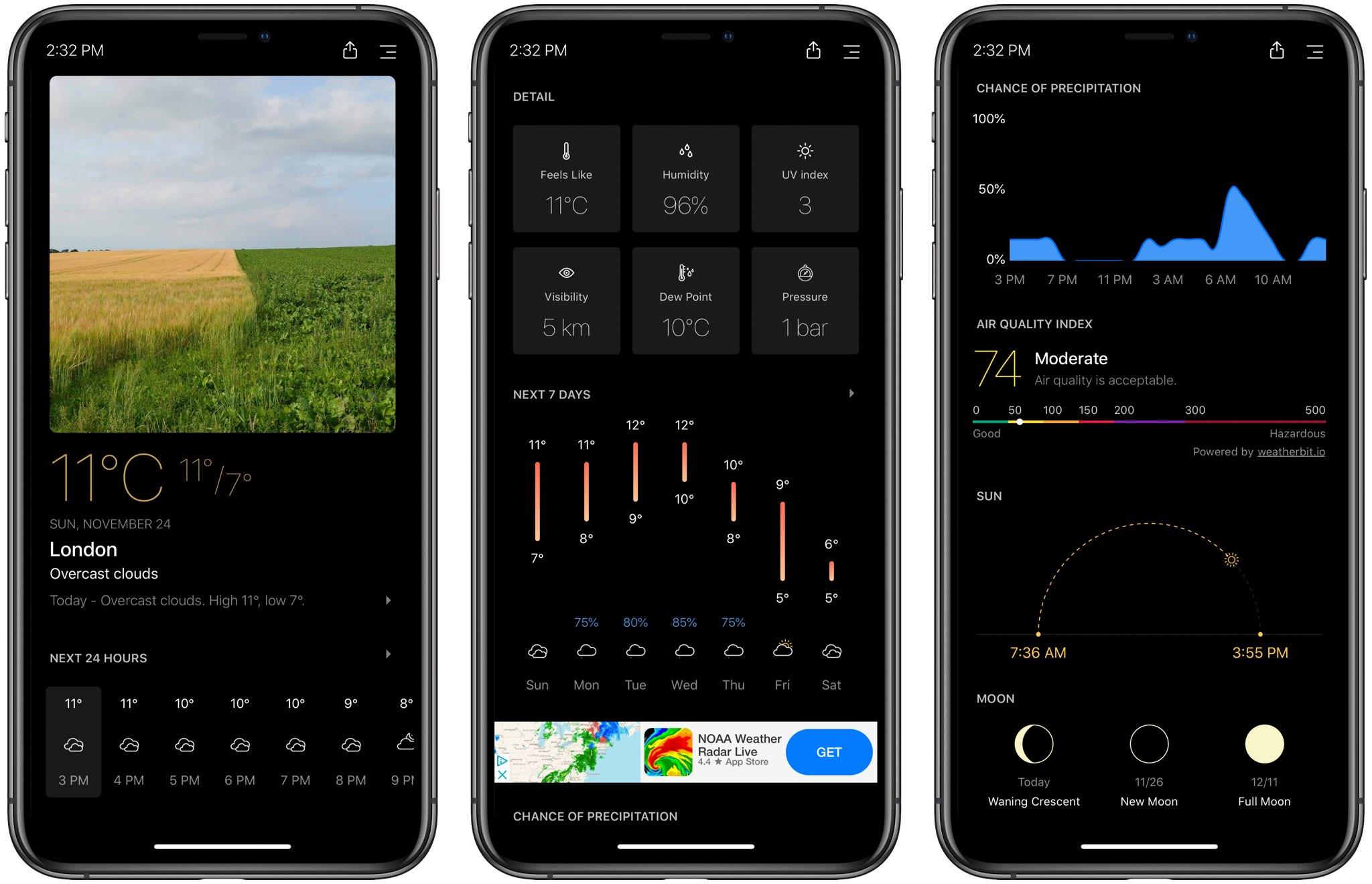 Faça com que as suas previsões meteorológicas fiquem maravilhosas com o Today Weather para iPhone [sponsored] 1