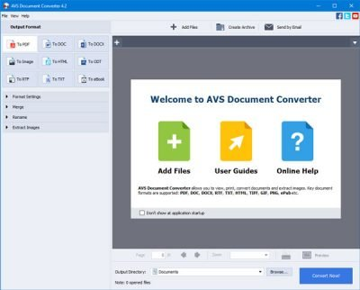 AVS Document Converter for Windows 10