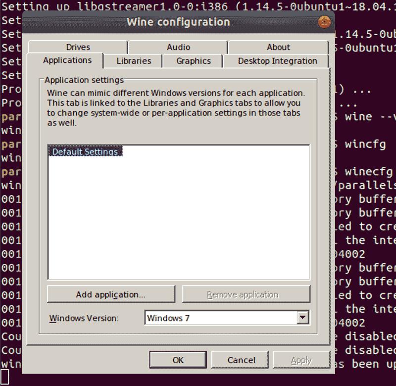 Configuração do Linux Wine
