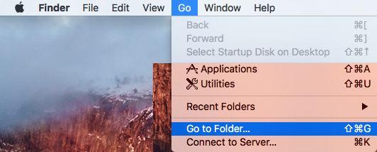 Abra Ir para pasta no Mac