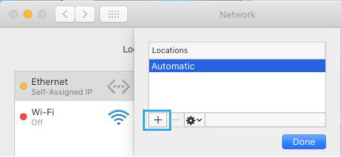 Adicionar opção de local de rede no Mac