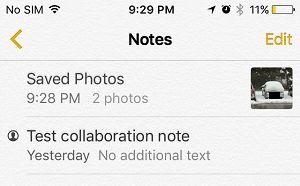 Note  Com fotos ocultas no iPhone
