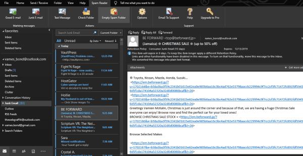 Filtros e bloqueadores de spam gratuitos para Microsoft Outlook