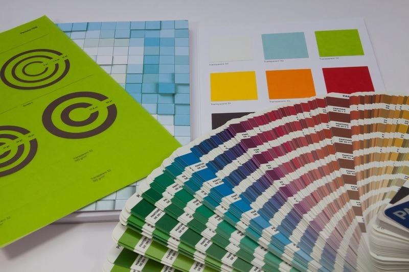 Paleta de cores de tinta de impressão