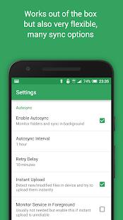 Captura de tela de sincronização automática para Google Drive