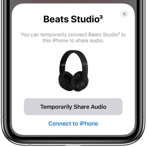 compartilhe áudio com o Beats