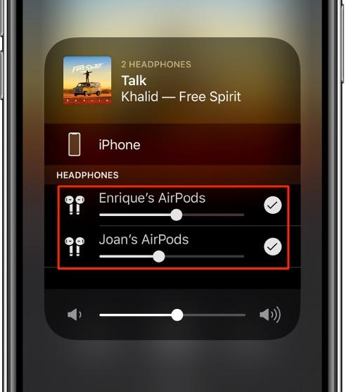 compartilhar áudio com AirPods