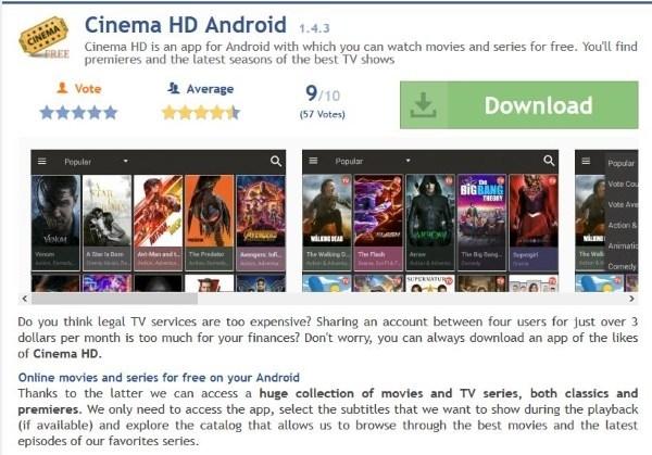 Como instalar o Cinema HD em 2