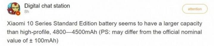 O Xiaomi Mi 10 terá uma bateria enorme e será extremamente rápido a carregar 1