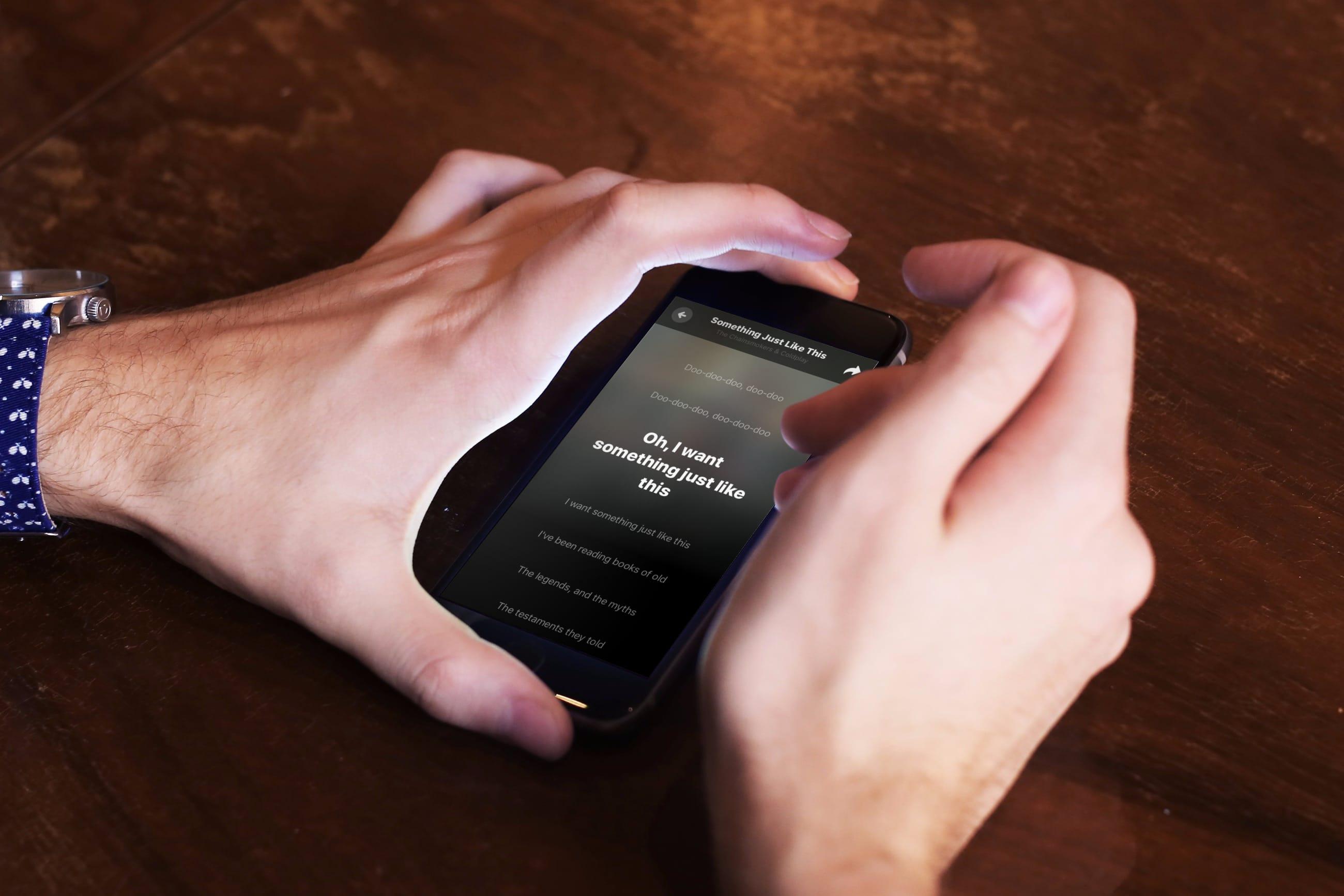 Letra da música Shazam Real-Time Scrolling