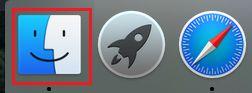 Abra o Finder No Mac