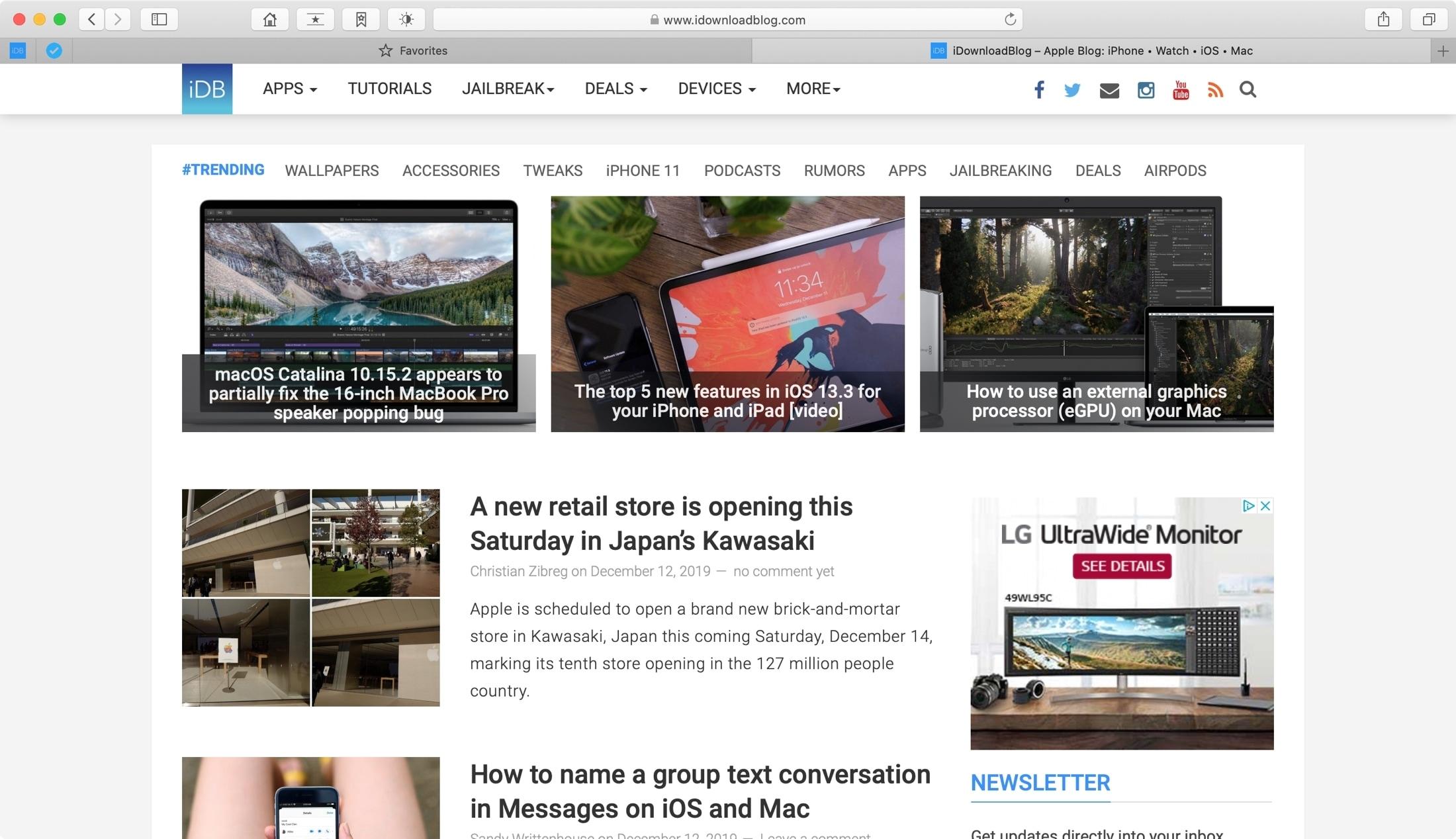 Personalize o Safari no Mac
