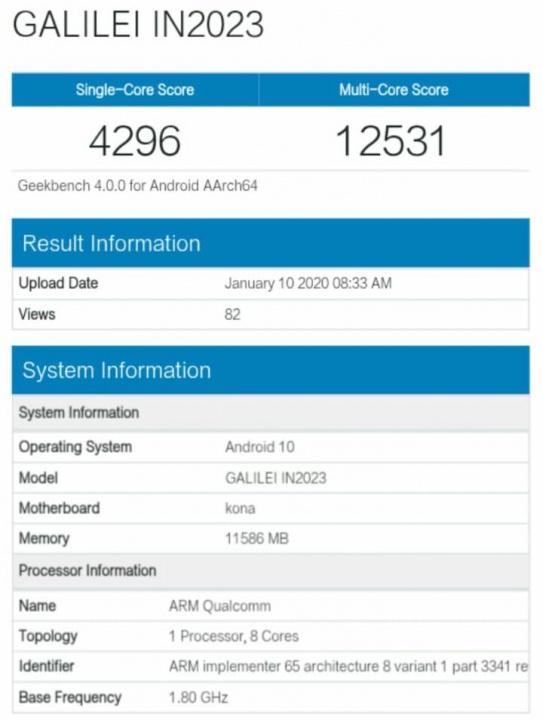Alegado smartphone OnePlus 8 passa por certificação e vê o primeiro teste de benchmark ser divulgado