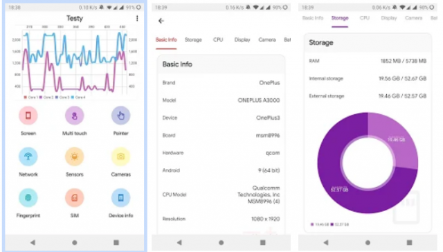 Descubra o status de integridade do seu hardware Android com Testy 1
