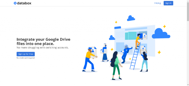 Databox, gerencie duas contas do Google Drive no mesmo local 1