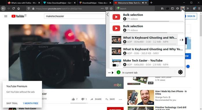 Melhores Extensões para Firefox Video Downloadhelper