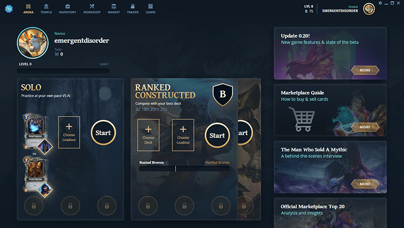 Jogos Blockchain Gods Unchained
