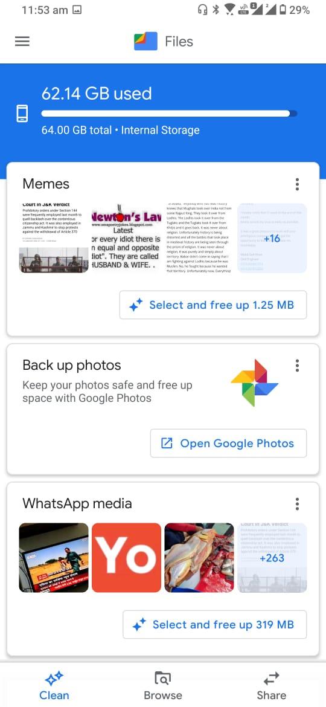 Exclua memes, capturas de tela e outros arquivos de mídia temporários do seu telefone de uma só vez 1