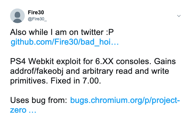 PS4 News: Fire30 releases WebKit exploit for PS4 FW 6.00-6.72 giving some hope to future developments