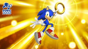 Imagine Sonic segurando um anel, com o