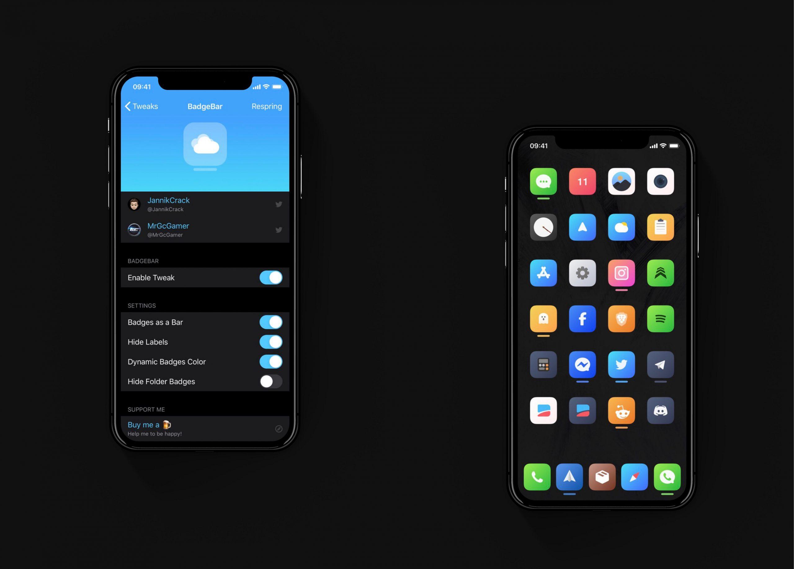 O BadgeBar substitui os feios crachás de notificação do iOS por barras coloridas 1