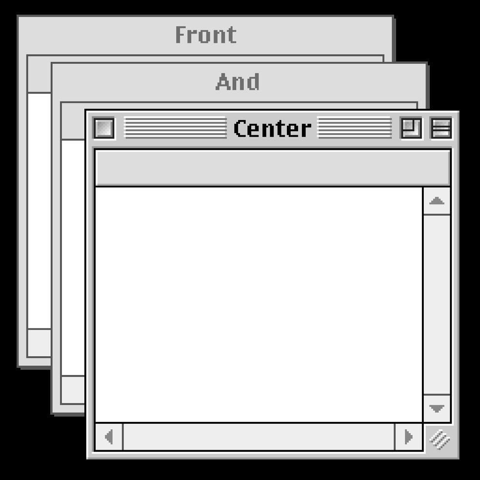 O Front and Center restaura as camadas clássicas das janelas no seu Mac 1